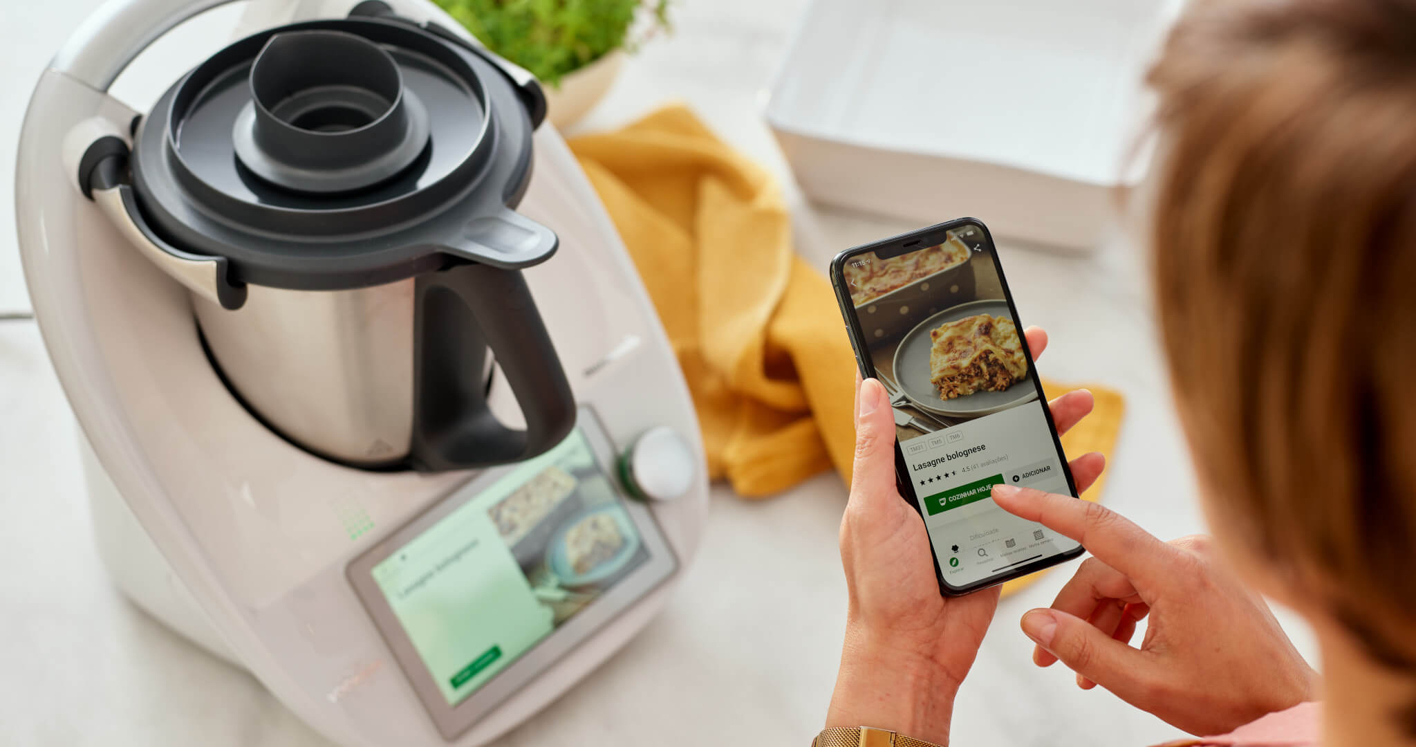 int thermomix TM6 product in use woman hands